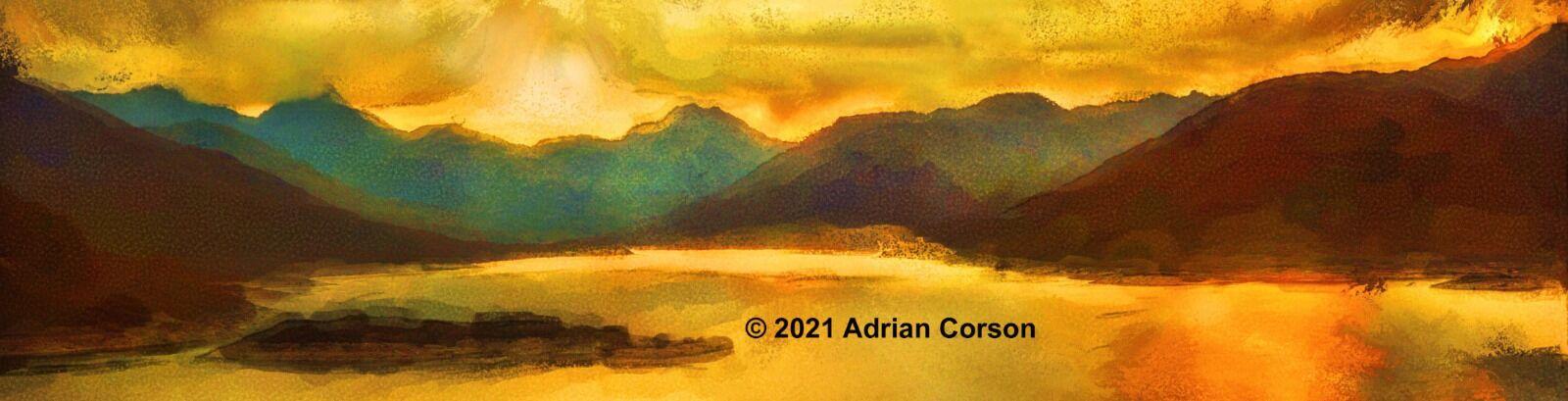 163-mountain golden glow