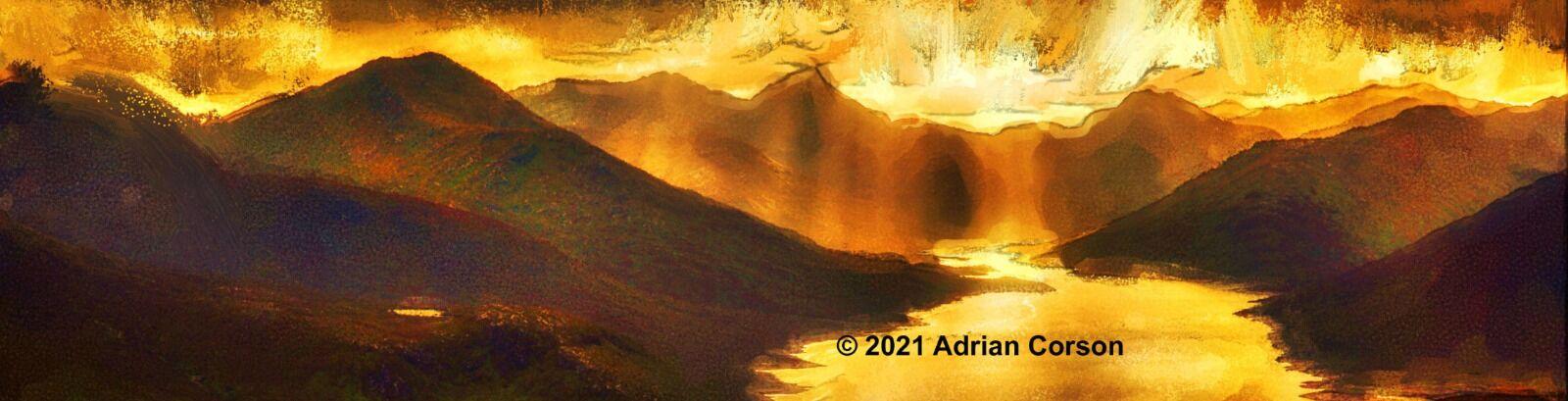 164-mountain gold sunset