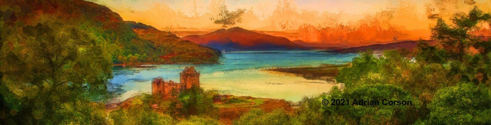 183-castle sunset