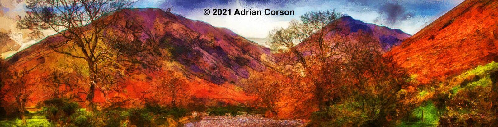 192-autumn mountain stream