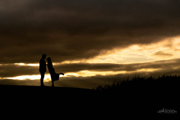 Beth and Dean Engagement Sunset
