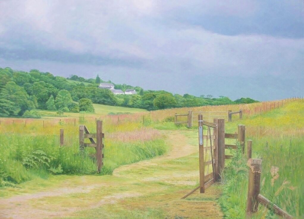 Beyond the Gate: oil: private collection