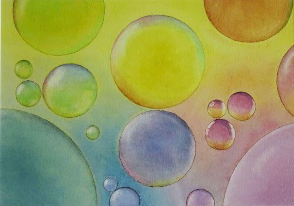 Bubble Art 1: watercolour: £70: 40 x 31 cm