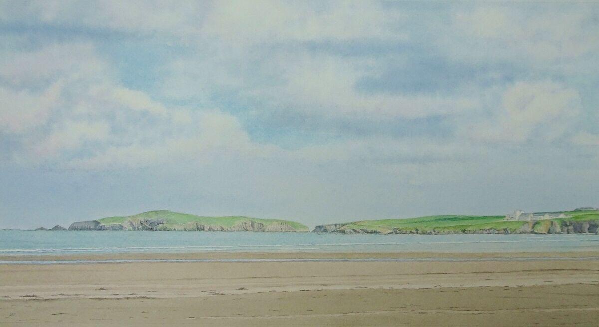 Cardigan Island: watercolour: £180: 67x44 cm