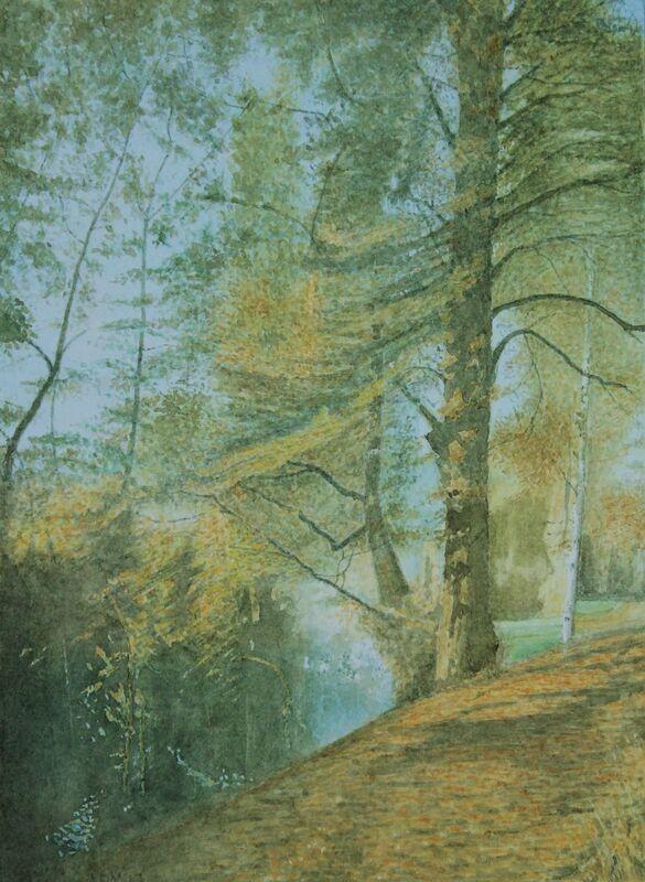 Cherwell Autumn: watercolour: private collection