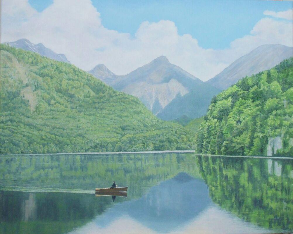 Der Alpsee: oil: 57x47 cm; currently in Dunkeld Art Exhibition 2021