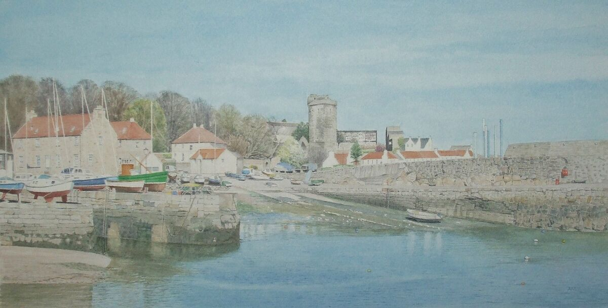 Dysart Harbour: watercolour: private collection