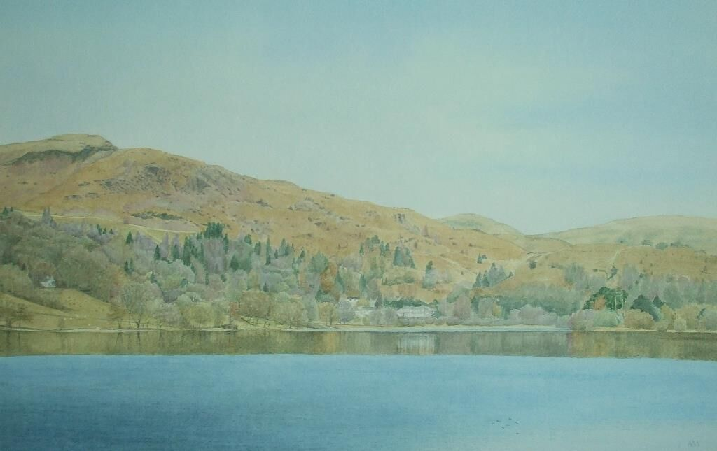 Early Spring Grasmere: watercolour: £220: 76x57 cm