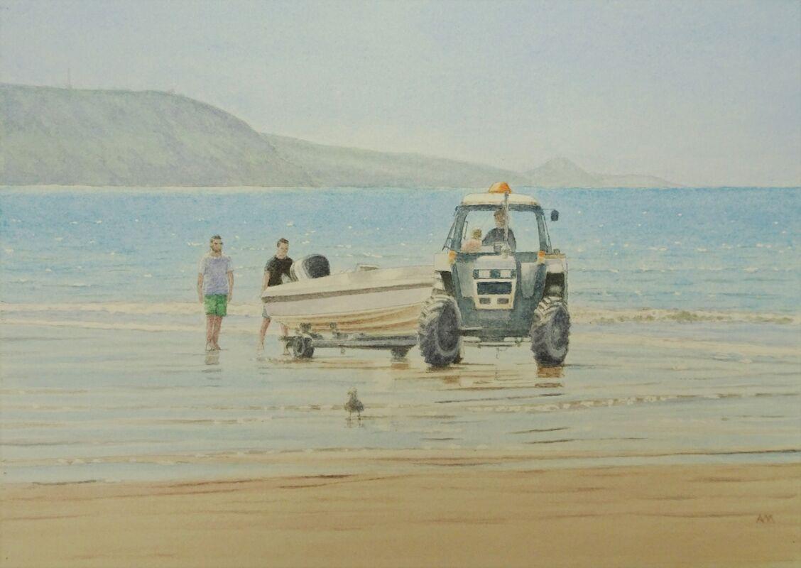 Follow Me!  watercolour: £90: 42x32 cm