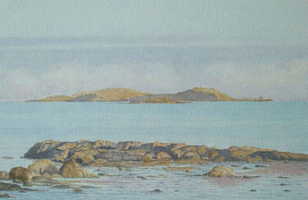Inchcolm : watercolour: private collection