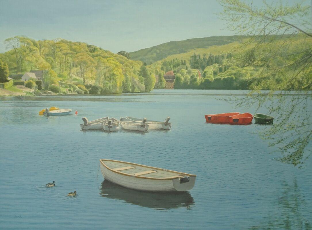 Loch Faskally: oil: 70x56 cm: currently in Dunkeld Art Exhibition 2021.