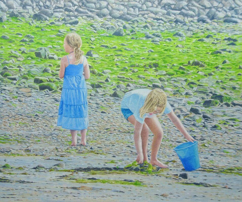 Martha and Mary: oil: £150: 39x34 cm