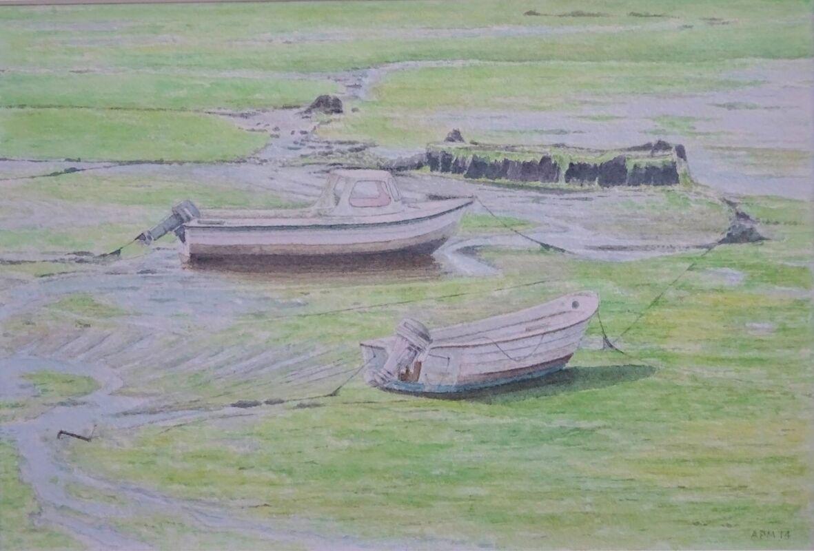 North Queensferry: watercolour: £120: 43x33 cm