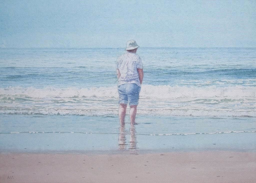 Penny for them: watercolour: private collection