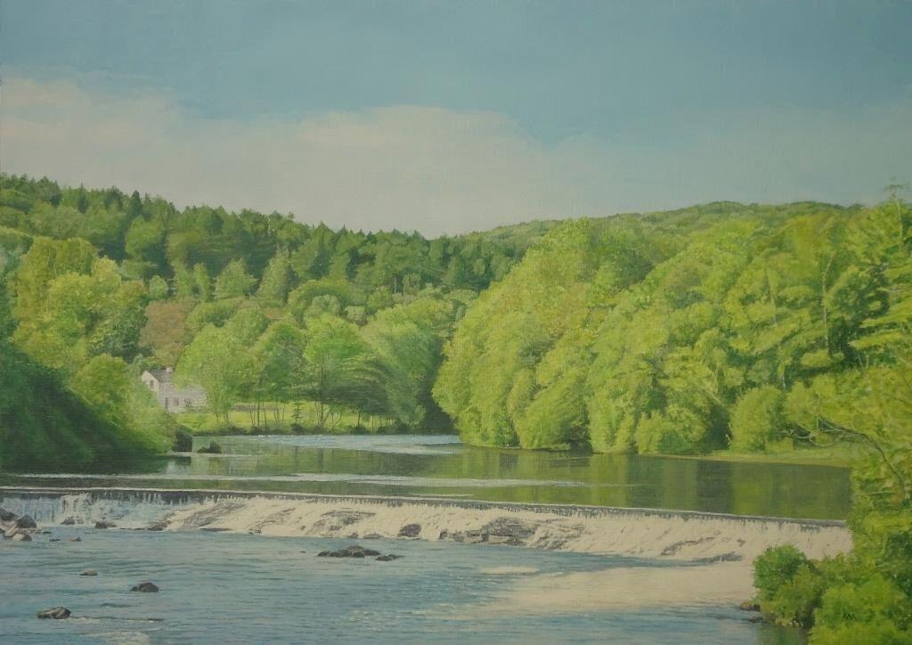 River Leven : oil: £220: 68x50 cm