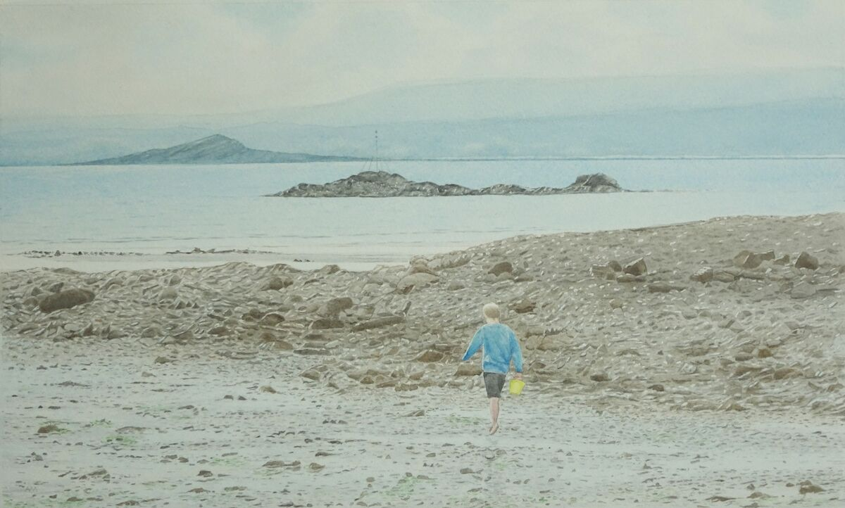 Searching for Seaweed: watercolour: 66x47 cm: currently in Aberdeen Artists' Society Digital Exhibition 2021
