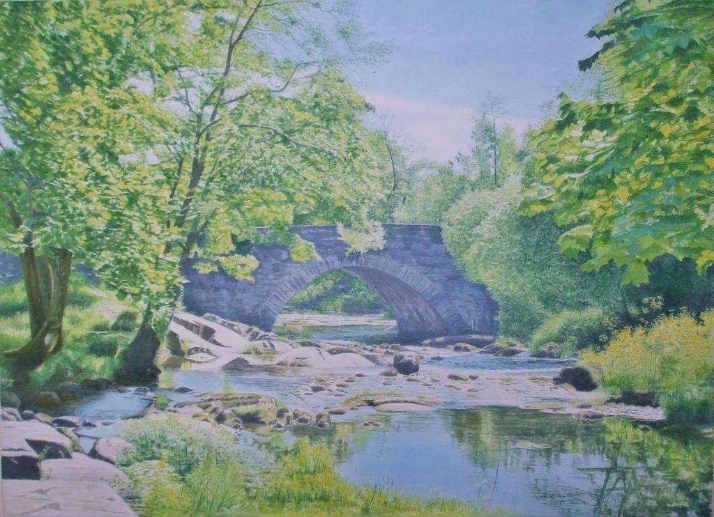 Skelwith Bridge: oil: 67x51 cm: currently in Dunkeld Art Exhibition 2021