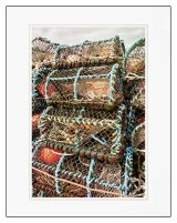 Lobster pots at the ready, Dunure, Scotland