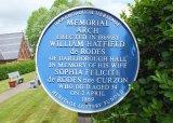 The Memorial Arch plaque, Barlborough, Derbyshire