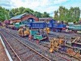 Rolling stock at Elsecar Railway Yard