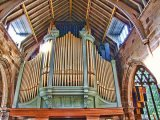 The Organ pipes - St Mary & St Laurence Church, Bolsover, Derbyshire