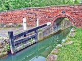 The lock gates at Mill Bridge, Chesterfield Canal, Derbyshire