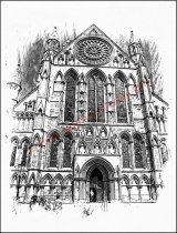 West door & Rose Window, York Minster