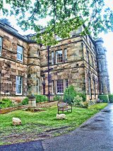 Willersley Castle front facade, Cromford, Derbyshire