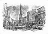 Sandgate, Ayr - pen & ink