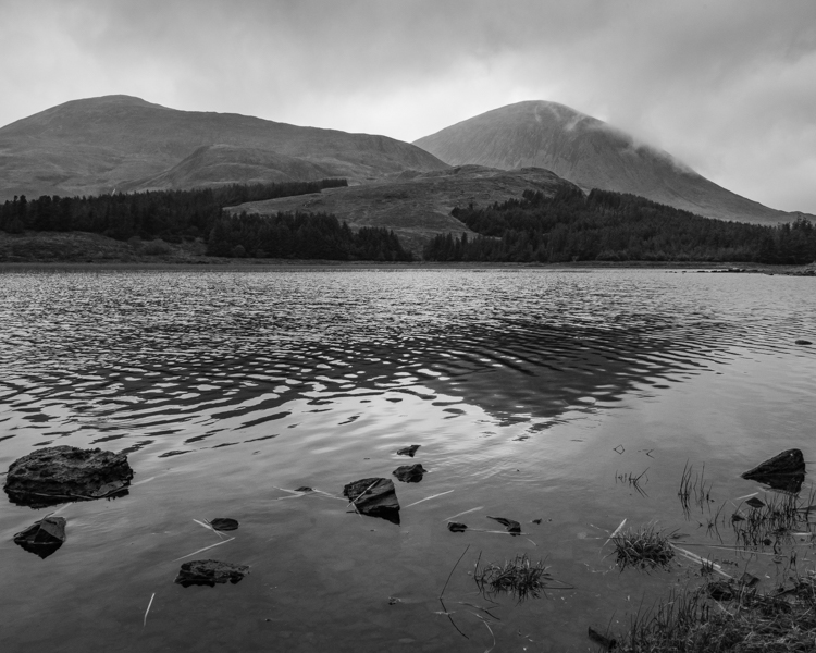 The Loch acts as a metaphor for my personal thoughts ranging from the dark and menacing to the feelings of clarity and light as I battle to reconcile the daemons of my past