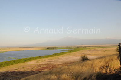 Amboseli Plains and Kilimanjaro from the Top of Observation Hill.