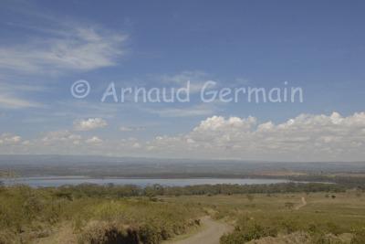 Lake Nakuru from Lanet Plains