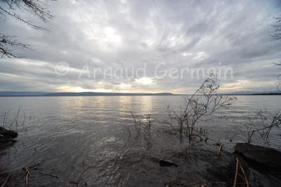 Lake Nakuru Under a Heavy Sky.