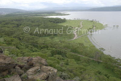 Lake Nakuru in Floods from Baboon Cliffs