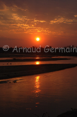 Luangwa River at sunset