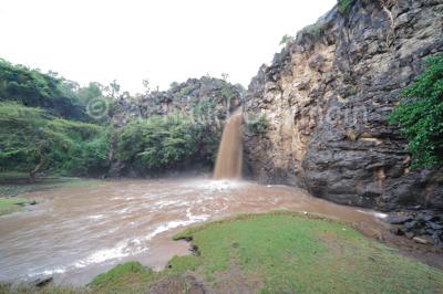Makalia Falls in the Rainy Season.