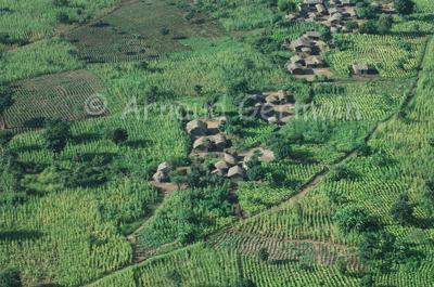 Malawi Village in the Rainy Season