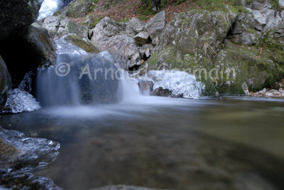 Waterfall in winter