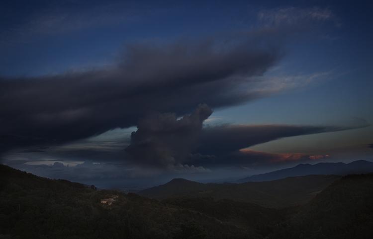 004 Fibbiano Landscape- Anvil Cloud