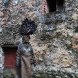 """008 Fibbiano Village Scenes- """"My Mum"""" (statue created in honour of his mother, by famous Italian sculptor Bruno Lucchesi who was brought up in this village before leaving to make his fortune in the U.S.A.)."""