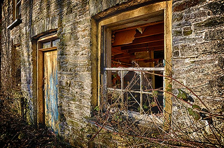 Outside Door and Broken Window