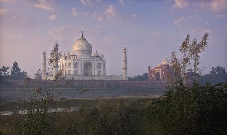 Taj Mahal early morning pink