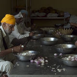 Sikh temple Delhi, food preparation