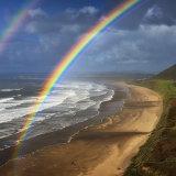 Rainbow over Rhossili Bay