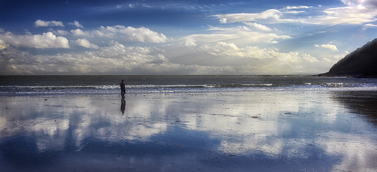Wet sand reflections