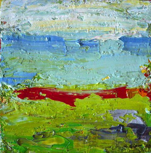 """Rathlin Island series .Oil on canvas 8 x 8"""" 2008"""