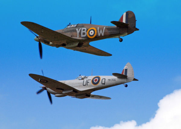Hurricane and Spitfire pair