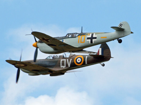 Spitfire and ME109 together