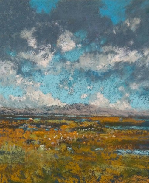 """Atlantic Wetlands"" Pastel 9x7 - 2016"