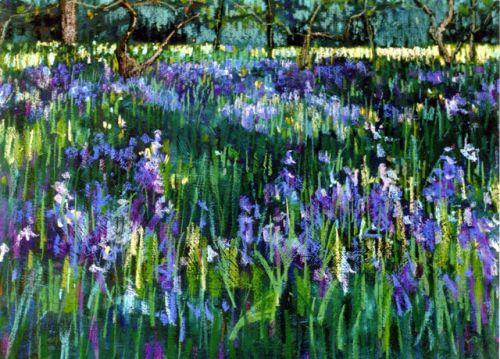 """""""Bluebell Glade, Botanic Gardens"""" (detail)"""